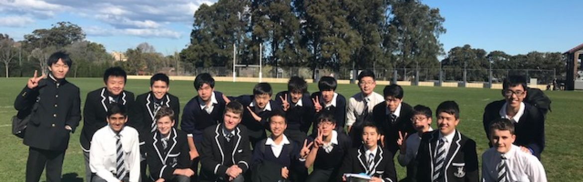 Ten boys from Japan visited Newington on exchange, and enjoyed a soccer game on Old Boys oval