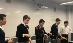 Ten boys from Japan visited Newington on exchange