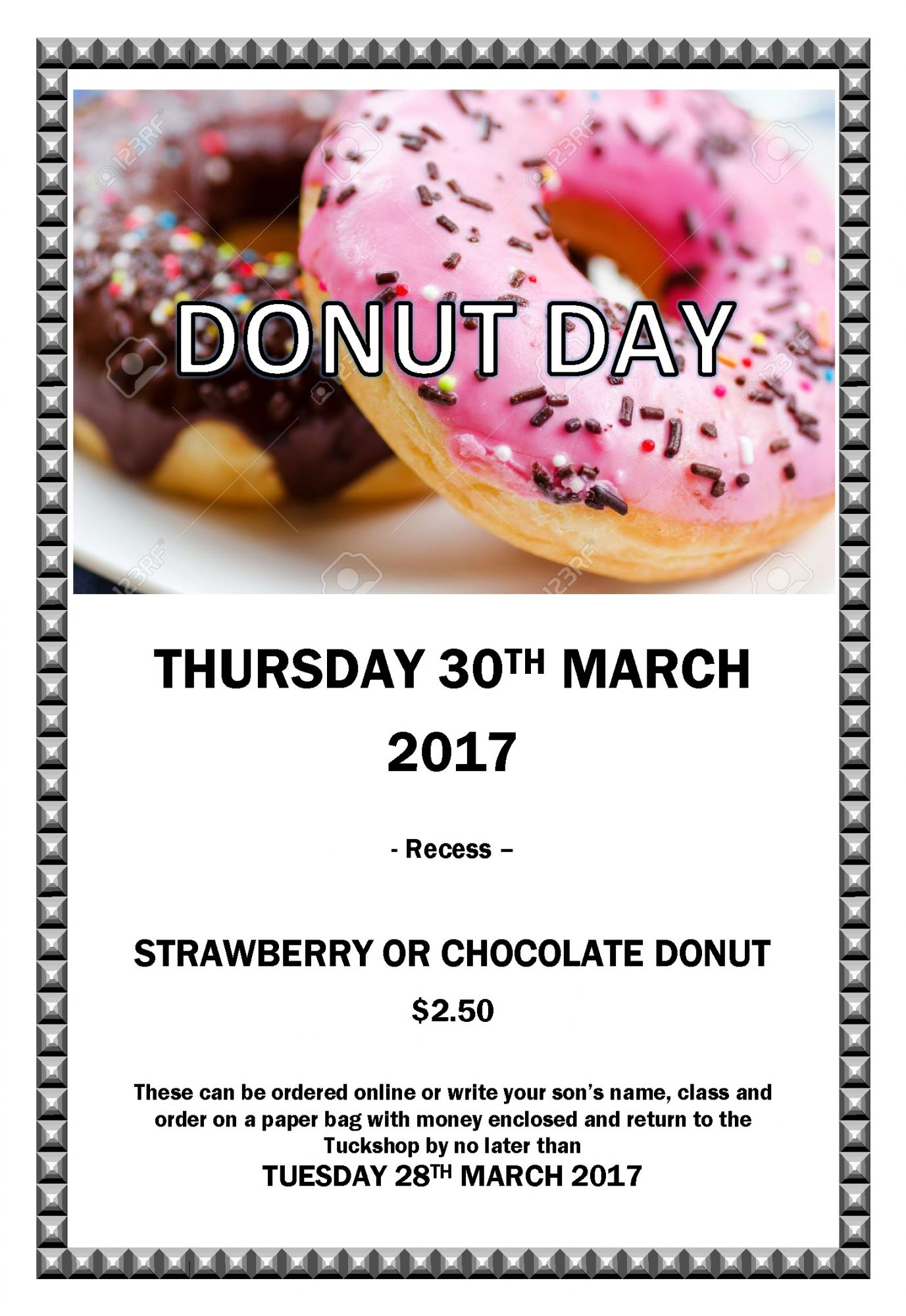 Donut Day Flyer Wyvern